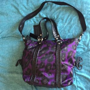 Coach Purple/Black and Sparkly shoulder Bag